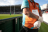 March 14th 2020, Eden Park, Auckland, New Zealand;  A security staff member wearing gloves during the Super Rugby match between the Blues and the Lions, held at Eden Park, Auckland, New Zealand.
