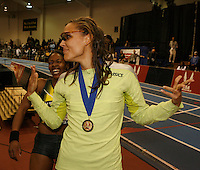 Angela Williams and Lolo Jones. Photo by Errol Anderson, The Sporting Image