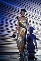 Lupita Nyong'o present the Oscar&reg; for achievement in production design during the live ABC Telecast of The 90th Oscars&reg; at the Dolby&reg; Theatre in Hollywood, CA on Sunday, March 4, 2018.<br /> *Editorial Use Only*<br /> CAP/PLF/AMPAS<br /> Supplied by Capital Pictures