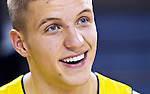 Michigan forward Max Bielfeldt during NCAA college basketball media day, Tuesday, Oct. 11, 2011, at in Ann Arbor, Mich. (AP Photo/Tony Ding)