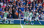 01.09.2019 Rangers v Celtic: Odsonne Edouard celebrates his goal