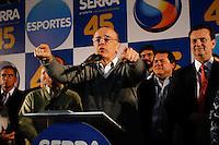 ATENÇÃO EDITOR: FOTO EMBARGADA PARA VEÍCULOS INTERNACIONAIS. SAO PAULO SP, 26 DE SETEMBRO DE 2012. ELEICAO 2012 - CAMPANHA JOSE SERRA. O candidato do PSDB a prefeitura de Sao Paulo, Jose Serra, durante encontro com atletas para apresentar suas propostas para area dos esportes, na noite desta quarta feira, no Circulo Militar na zona sul da capital paulista. FOTO ADRIANA SPACA/BRAZIL PHOTO PRESS