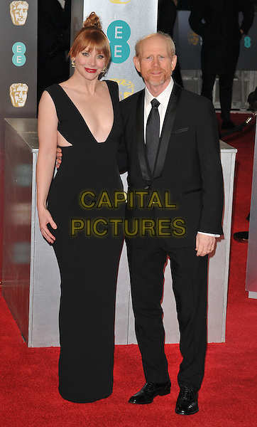 Bryce Dallas Howard and Ron Howard at the EE British Academy Film Awards (BAFTAs) 2017, Royal Albert Hall, Kensington Gore, London, England, UK, on Sunday 12 February 2017.<br /> CAP/CAN<br /> &copy;CAN/Capital Pictures