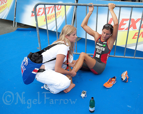 12 JUL 2009 - KITZBUHEL, AUT - Melanie Annaheim - ITU World Championship Series Womens Triathlon .(PHOTO (C) NIGEL FARROW)