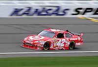 Oct. 3, 2009; Kansas City, KS, USA; Nascar Sprint Cup Series driver Juan Pablo Montoya during practice for the Price Chopper 400 at Kansas Speedway. Mandatory Credit: Mark J. Rebilas-