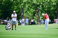 Zach Johnson (USA) hits his approach shot on 9 during round 2 of the Dean &amp; Deluca Invitational, at The Colonial, Ft. Worth, Texas, USA. 5/26/2017.<br /> Picture: Golffile | Ken Murray<br /> <br /> <br /> All photo usage must carry mandatory copyright credit (&copy; Golffile | Ken Murray)