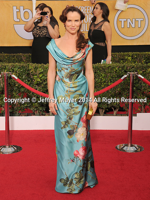 LOS ANGELES, CA- JANUARY 18: Actress Juliette Lewis arrives at the 20th Annual Screen Actors Guild Awards at The Shrine Auditorium on January 18, 2014 in Los Angeles, California.