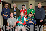 John Roche Memorial Indoor Soccer Tournament: The annual John Roche Memorial Indoor Soccer Tournament was held in the Listowel Community Centre on Tuesday last. The runner up team is as follows front: Maurice O'Halloran, David Doherty & Tom Haley. Back : Kieran Dennehy, Tom Roche ( father of John), Conor O'Leary, Liam McElligott & Eoin Hand, former Irish Managern who presented the prizes.