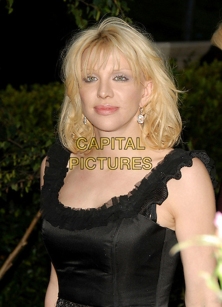 COURTNEY LOVE.Attends The Chrysalis' Fifth Annual Butterfly Ball held at The Italian Villa of Carla and Fred Sands in Bel Air, Los Angeles, California, USA, June 10th 2006..half length black dress.Ref: DVS.www.capitalpictures.com.sales@capitalpictures.com.©Debbie VanStory/Capital Pictures