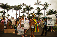 No GMO and Monsanto rally and march in Hawaii.