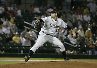 August 11, 2004:  Pitcher Tim Byrdak of the Ottawa Lynx, Triple-A International League affiliate of the Baltimore Orioles, during a game at Frontier Field in Rochester, NY.  Photo by:  Mike Janes/Four Seam Images