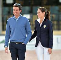 WELLINGTION, FL - FEBRUARY 09: SATURDAY NIGHT LIGHTS: Jessica Rae Springsteen seen happy and smitten with new boyfriend Lorenzo de Luca before she participates in Class 101 - FEI CSI5* $391,000 Fidelity Investments Grand Prix where the winner was Martin Fuchs (Swiss) second place was Kent Farrington (USA) and third was Conor Swail (IRE). The Winter Equestrian Festival (WEF) is the largest, longest running hunter/jumper equestrian event in the world held at the Palm Beach International Equestrian Center. Jessica Rae Springsteen (born December 30, 1991) is an American show jumping champion rider who has represented the United States in the Show Jumping World Cup and the 2012 FEI Nations Cup.Jessica is the second child and only daughter of Bruce Springsteen and Patti Scialfa on February 09, 2019  in Wellington, Florida.<br /> People:  Jessica Rae Springsteen, Lorenzo de Luca <br /> CAP/MPI122<br /> &copy;MPI122/Capital Pictures