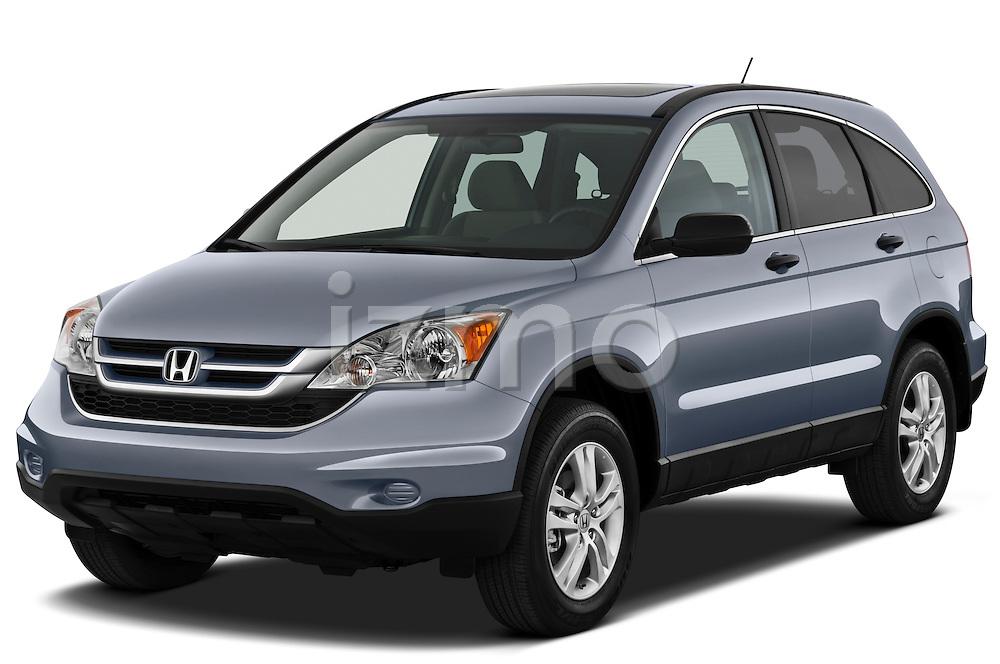 Front three quarter view of a 2010 Honda CRV EX.