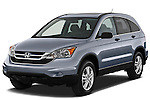 Front three quarter view of a 2010 Honda CRV EX.