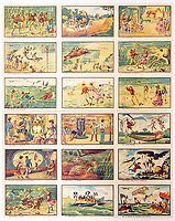 BNPS.co.uk (01202 558833)<br /> Pic:  Hansons/BNPS<br /> <br /> A remarkable set of drawings which were produced in 1899 to predict the future have come to light - and some of the ideas are plain wacky.<br /> <br /> Their outlandish vision of the world in 2000 includes flying cars, whales pulling coaches and games of croquet under the sea.<br /> <br /> The illustrations were produced by a group of French artists for a Paris exhibition entitled 'En L'An 2000'. (In the year 2000)<br /> <br /> They did not foresee a man on the moon or the first computer, but predicted people would be playing tennis with bat wings.