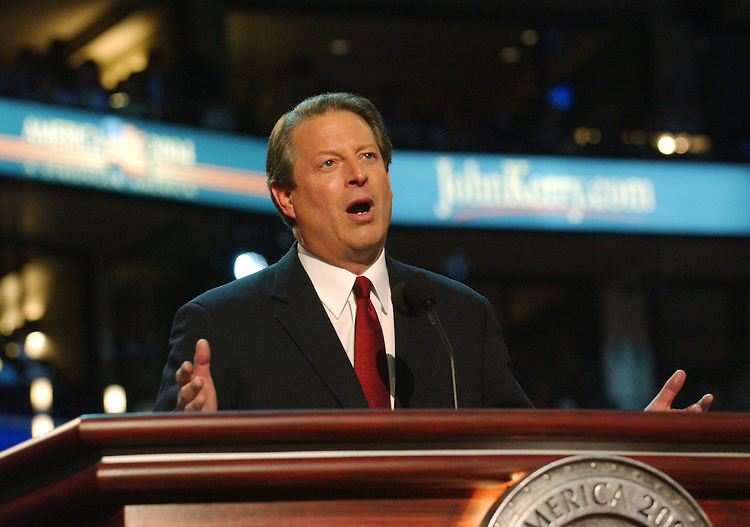 7/26/04.2004 DEMOCRATIC NATIONAL CONVENTION--Former Vice President and 2000 presidential candidate Al Gore speaks during the convention..CONGRESSIONAL QUARTERLY PHOTO BY SCOTT J. FERRELL