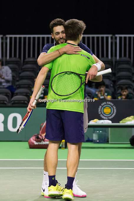 Rotterdam, Netherlands, 9 februari, 2019, Ahoy, Tennis, ABNAMROWTT,  SANDER ARENDS (NED)+DAVID PEL (NED) Photo: Henk Koster/tennisimages.com