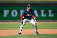 Salem Red Sox third baseman Jordan Betts (24) on defense against the Winston-Salem Dash at BB&T Ballpark on April 17, 2016 in Winston-Salem, North Carolina.  The Red Sox defeated the Dash 3-1.  (Brian Westerholt/Four Seam Images)