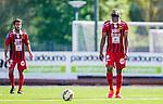 S&ouml;dert&auml;lje 2015-08-01 Fotboll Superettan Assyriska FF - &Ouml;stersunds FK :  <br /> &Ouml;stersunds Michael Omoh deppar under matchen mellan Assyriska FF och &Ouml;stersunds FK <br /> (Foto: Kenta J&ouml;nsson) Nyckelord:  Assyriska AFF S&ouml;dert&auml;lje Fotbollsarena Superettan &Ouml;stersund &Ouml;FK depp besviken besvikelse sorg ledsen deppig nedst&auml;md uppgiven sad disappointment disappointed dejected