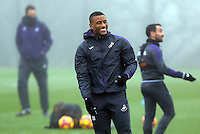 Luciano Narsingh in action during the Swansea City Training at The Fairwood Training Ground, Swansea, Wales, UK. Wednesday 22 February 2017