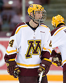 Mike Howe (University of Minnesota - St. Cloud, MN) warms up. The University of Minnesota Golden Gophers defeated the Michigan State University Spartans 5-4 on Friday, November 24, 2006 at Mariucci Arena in Minneapolis, Minnesota, as part of the College Hockey Showcase.