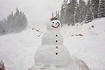 A snowman greets guests at the entrance to Monarch Mountain ski area. Michael Brands for The New York Times.