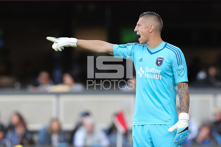 San Jose, CA - Saturday May 27, 2017: David Bingham during a Major League Soccer (MLS) match between the San Jose Earthquakes and the Los Angeles Galaxy at Avaya Stadium.