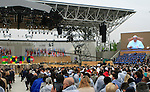 Pope Francis at the Opening Ceremony and Pavillons at the first day of Expo Milano 2015, in Milan on May 1, 2015.