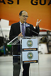 PEMBROKE PINES, FL - NOVEMBER 18: Secretary of Labor Thomas Perez visits Broward College Aviation Institute and addresses a group of educators to discuss the recent selection of Broward College to lead a $24.5 million grant to twelve schools in seven states focused on training workers for careers in supply chain management on November 18, 2013 in Pembroke Pines, Florida. (Photo by Johnny Louis/jlnphotography.com)