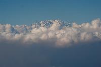Monte Rosa (4634 m) seen from Monte Lema, Ticino, Switzerland