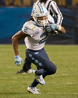 North Carolina running back Jordon Brown. The North Carolina Tarheels defeated the Pitt Panthers football team 34-31 at Heinz Field, Pittsburgh, Pennsylvania on November 9, 2017.