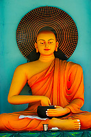 Buddhist and Hindu statues, Tangalle Temple, Southern Province, Sri Lanka.