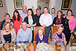 Ahern Reunion originally from the Meadowlands at Bella Bia on Friday. Pictured Mary Hern, Declan Naughton,  Bunty Ahern, Laurie Holdridge, Susan Naughton, Megan Naughton, Tom Moriarty, Aoife Moriarty, Maurice Ahern, Cian Moriarty, Michael Ahern, Catriona Oats, Amy Brennan