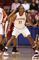 19 March 2007: Candice Wiggins during Stanford's 68-61 second round loss to Florida State in the NCAA women's basketball tournament at Maples Pavilion in Stanford, CA.