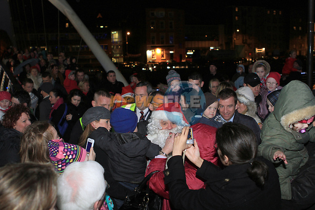 Crowds as Santa arrives at Scotch Hall...(Photo credit should read Jenny Matthews www.newsfile.ie)....This Picture has been sent you under the conditions enclosed by:.Newsfile Ltd..The Studio,.Millmount Abbey,.Drogheda,.Co Meath..Ireland..Tel: +353(0)41-9871240.Fax: +353(0)41-9871260.GSM: +353(0)86-2500958.email: pictures@newsfile.ie.www.newsfile.ie.