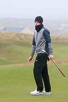 Luke O'Neill (Connemara) on the 18th green during the Final Round of the Connacht U18 Boys Open 2018 on Carne Golf Links at Belmullet Golf Club on Sunday 6th April 2018.<br /> Picture:  Thos Caffrey / www.golffile.ie<br /> <br /> All photo usage must carry mandatory copyright credit (&copy; Golffile | Thos Caffrey)