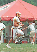 Washington Redskin wide receiver James Thrash fields a kickoff during practice drills at Redskins training camp at Redskin Park in Ashburn, Virginia on July 30, 2000. Thrash is expected to take up the kickoff return duties assigned to Brian Mitchell before he was released. <br /> Credit: Arnie Sachs / CNP