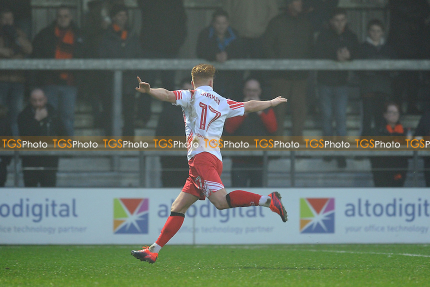 Stevenage's Dale Gorman celebrates scoring his team's first goal during Barnet vs Stevenage, Sky Bet EFL League 2 Football at the Hive Stadium on 17th December 2016