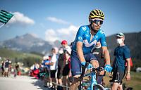 José Joaquín Rojas (ESP/Movistar) at the gravel section atop the Montée du plateau des Glières (HC/1390m)<br /> <br /> Stage 18 from Méribel to La Roche-sur-Foron (175km)<br /> <br /> 107th Tour de France 2020 (2.UWT)<br /> (the 'postponed edition' held in september)<br /> <br /> ©kramon