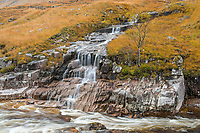 Waterfall into the River Etive, Glen Coe