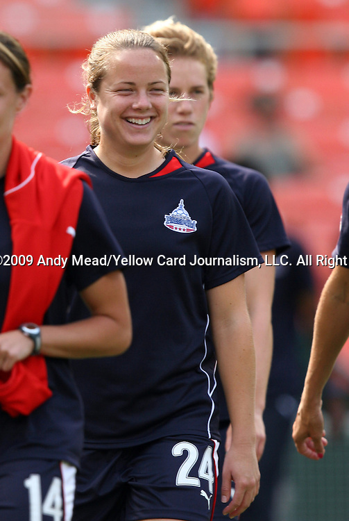 18 July 2009: Washington's Christen Karniski. The Washington Freedom defeated Saint Louis Athletica 1-0 at the RFK Stadium in Washington, DC in a regular season Women's Professional Soccer game.