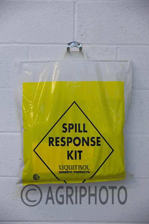 Spill Response kit an a farm chemical store <br /> Picture Tim Scrivener 07850 303986