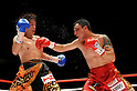 (L-R) Tomonobu Shimizu (JPN), Hugo Fidel Cazares (MEX),..AUGUST 31, 2011 - Boxing : Hugo Fidel Cazares of Mexico in action against Tomonobu Shimizu of Japan during the WBA super flyweight title bout at Nippon Budokan in Tokyo, Japan. (Photo by Mikio Nakai/AFLO)