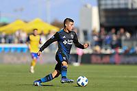 San Jose, CA - Sunday October 21, 2018: Eric Calvillo during a Major League Soccer (MLS) match between the San Jose Earthquakes and the Colorado Rapids at Avaya Stadium.
