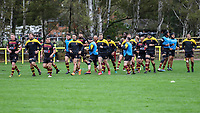 The Ampthill Rugby team ahead of the Greene King IPA Championship match between Ampthill RUFC and Nottingham Rugby on Ampthill Rugby's Championship Debut at Dillingham Park, Woburn St, Ampthill, Bedford MK45 2HX, United Kingdom on 12 October 2019. Photo by David Horn.