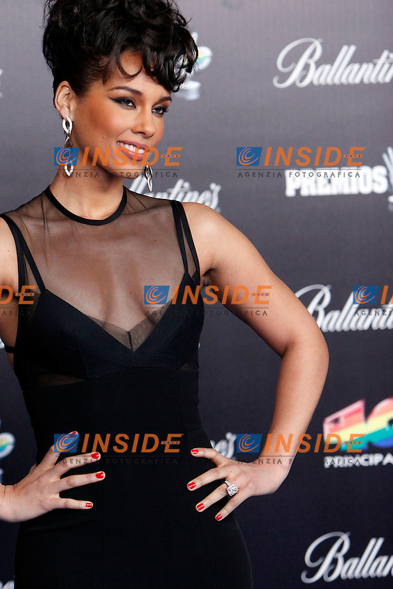Alicia Keys attends 40 Principales awards photocall  2012 at Palacio de los Deportes in Madrid, Spain. January 24, 2013.  Foto  Insidefoto/ALTERPHOTOS/Caro Marin.ITALY ONLY
