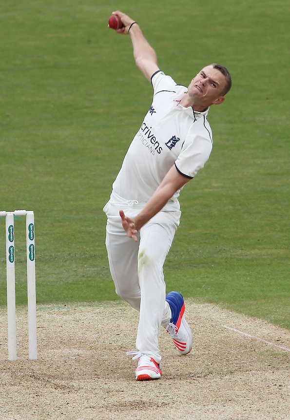 Warwickshire's Josh Poysden<br /> <br /> Photographer Mick Walker/CameraSport<br /> <br /> County Cricket - County Championship Division One - Warwickshire v Hampshire - Sunday 10th July 2016 - Edgbaston - Birmingham<br /> <br /> &copy; CameraSport - 43 Linden Ave. Countesthorpe. Leicester. England. LE8 5PG - Tel: +44 (0) 116 277 4147 - admin@camerasport.com - www.camerasport.com