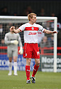 Mark Roberts of Stevenage. Stevenage v Yeovil Town- npower League 1 -  Lamex Stadium, Stevenage - 13th April, 2013. © Kevin Coleman 2013.. . . . .. . . .  . . .  .