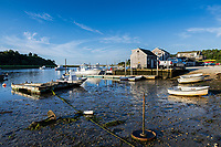 Oyster River boat landing, Chatham, Cape Cod, Massachusetts, USA.