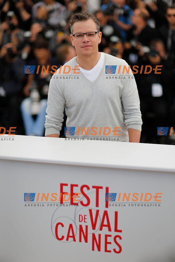 Matt Damon .Cannes 21/5/2013 .Festival del Cinema di Cannes .Foto Panoramic / Insidefoto .ITALY ONLY